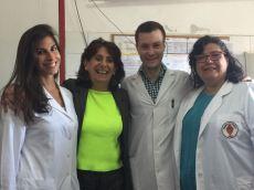 Dra Lucrecia Lopez con Dra Nadur, Folgar y Dr Hardaman
