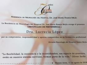 Certificado Dra. Lucrecia Lopez