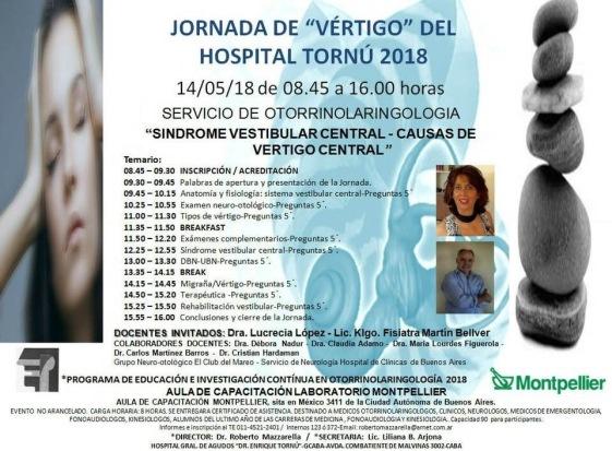 Jornada Vértigo Hospital Tornú Dra. Lucrecia Lopez